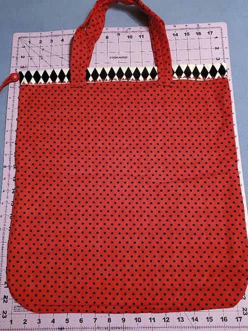 Large Handled Drawstring bag