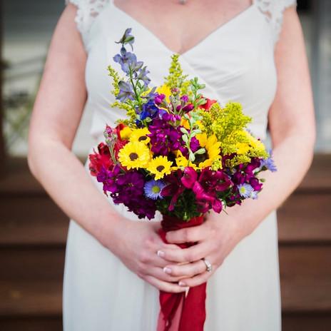 Summer Garden Inspired Bridal Bouquet for Jackie