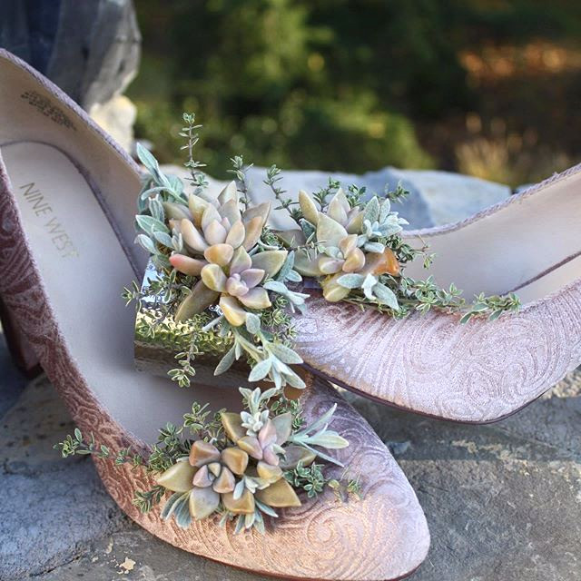 Blush Wedding Wearables Shoess and Cuff