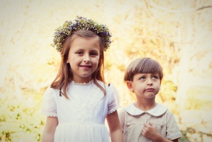 Flowergirl's Floral Crown for Emily's Wedding