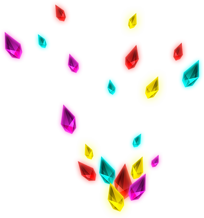 Gems with different colors