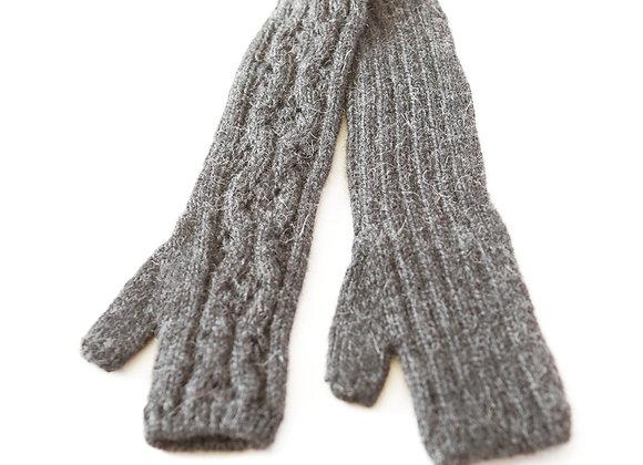 Handknit Long Fingerless Gloves