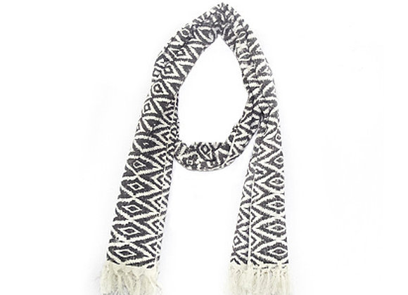 Ikat Hand-Stamped Scarf