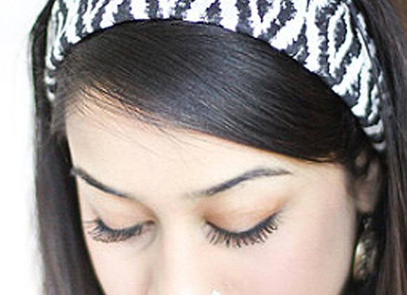 Ikat Hand-Stamped Headband