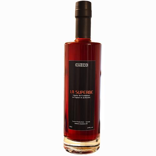 « La Superbe » Liqueur de Framboise-Basilic 50cl (vol.24%)