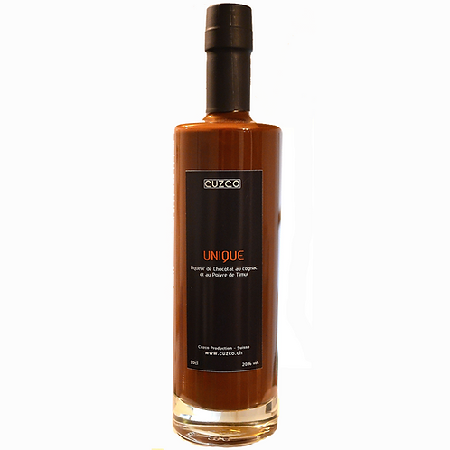« Unique »  Liqueur de Chocolat-Timut 50cl (vol.20%)