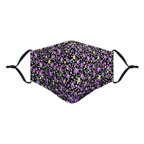 face mask floral purple