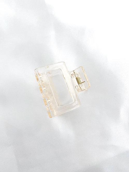 beige transparant hairclaw mini