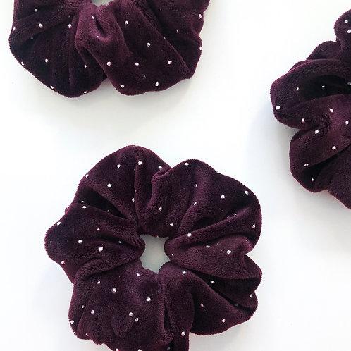 fluffy purple with rhinestones