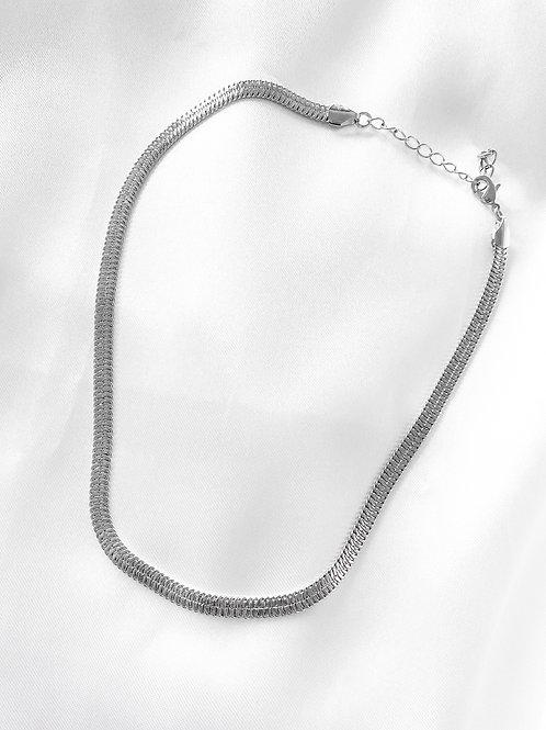 snake skin necklace silver