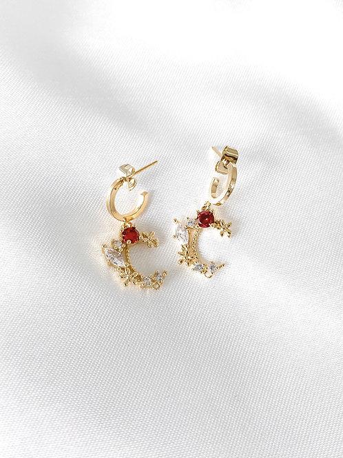 Elara earrings red