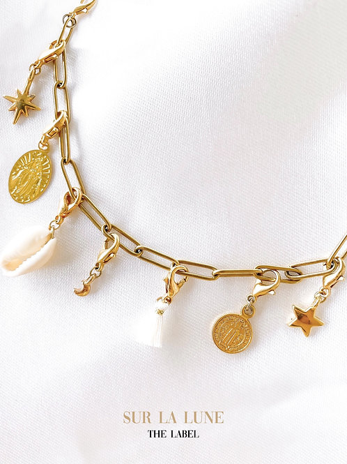 June charm bracelet with 3 charms