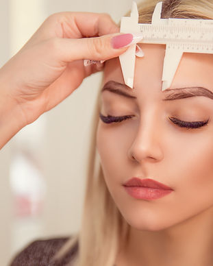 Changing the shape of the brows. Stylist