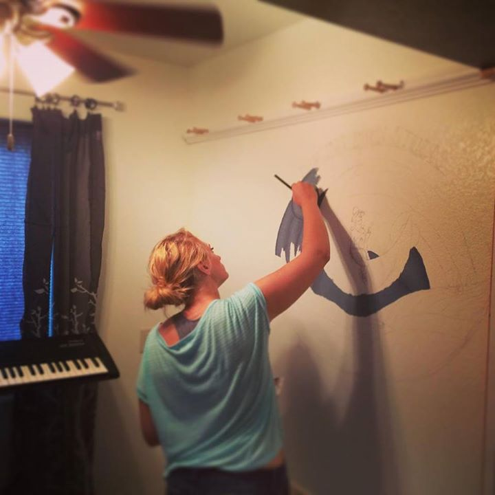 Dancin' Moon Studio wall mural has begun.jpg.jpg