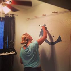 Dancin' Moon Studio wall mural has begun.jpg.jpg