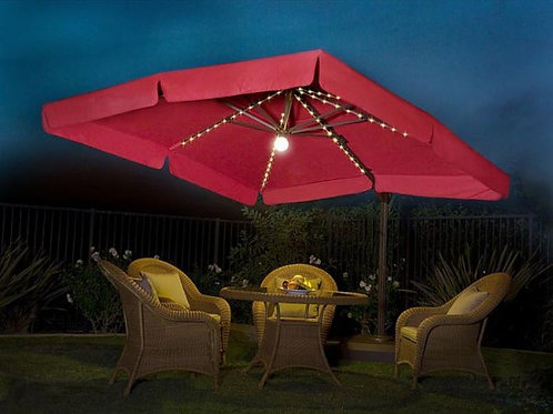 8' x 8' Side Post Umbrella with Lights