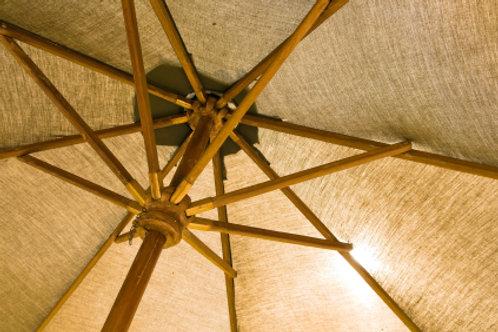 7.5' x 7.5' Market Umbrella - Wood Frame