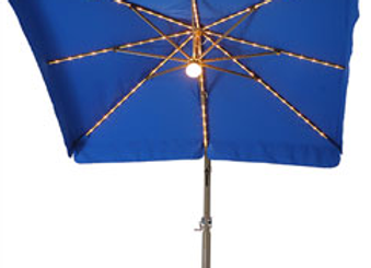 8' x 8' Side Post Umbrella with Lights