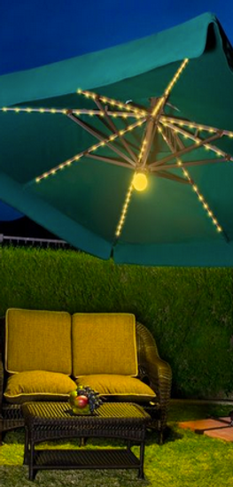 10' x 10' Side Post Umbrella with Lights