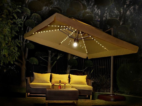 10' x 10' Side Post Umbrella with Lights