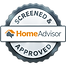 home advisor screened and approved button