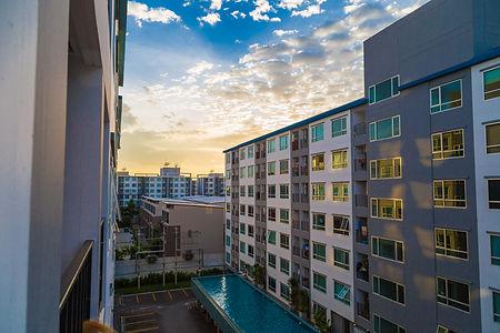 Condominium Loft Modern Apartment Living Room Sunset Time.jpg
