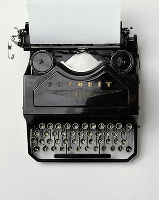 Máquina de escribir de la vendimia