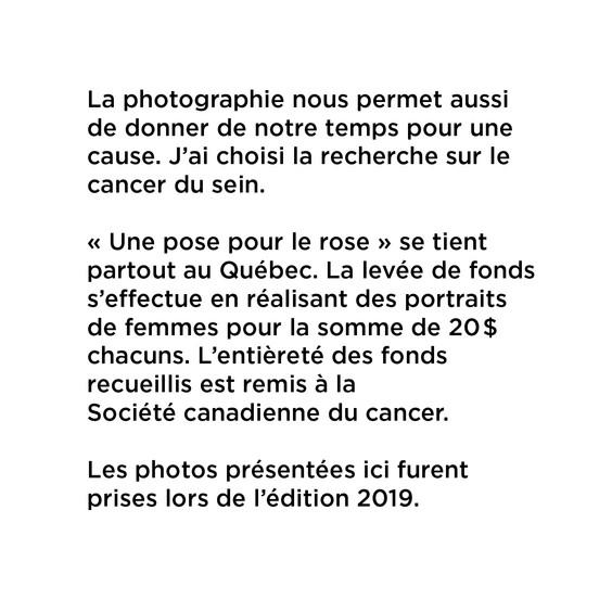 Portraits - Pour Une Cause - Description