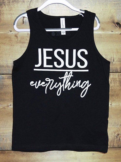 """YOUTH """"Jesus Over Everything"""" tank"""