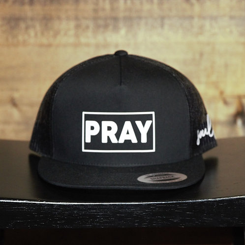 "Snapback Flat bill ""PRAY"" Hat"