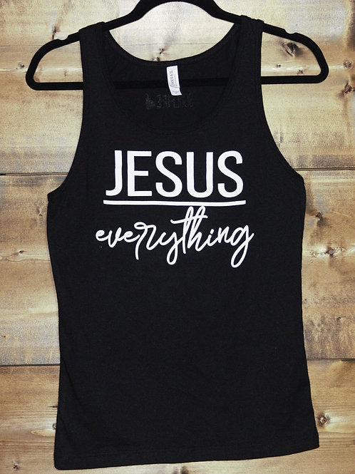 "Black Unisex ""Jesus Over Everything"" tank"