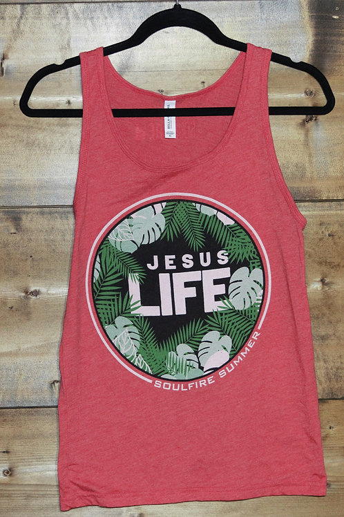 "Red Unisex ""Jesus Life"" Soulfire Summer tank"