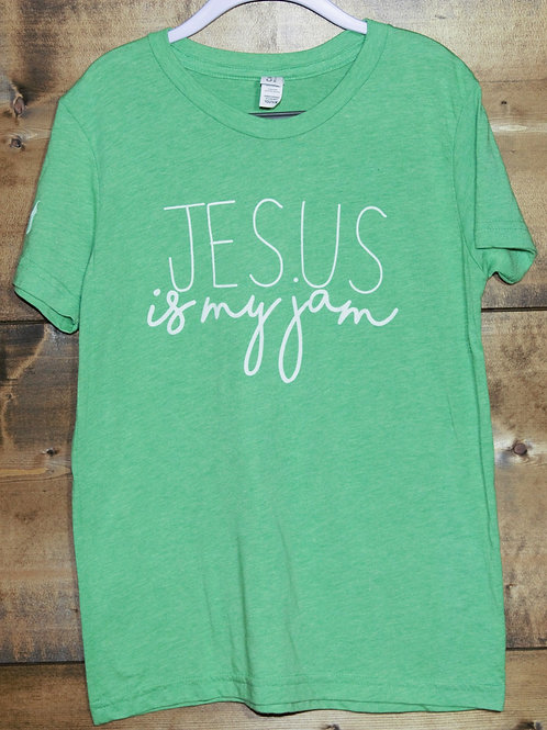 "YOUTH Heathered Green ""Jesus Is My Jam"" t-shirt"