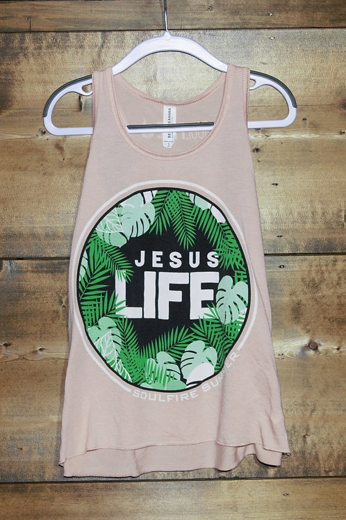 "YOUTH Peach Racerback Soulfire Summer ""Jesus Life"" tank"