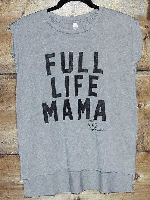 "Heathered Gray The Full Life ""Full LIfe Mama"" trendy t-shirt"