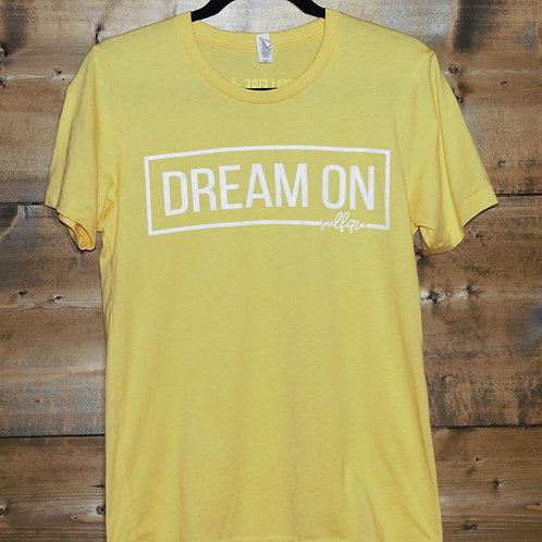 "Yellow ""Dream On"" t-shirt"