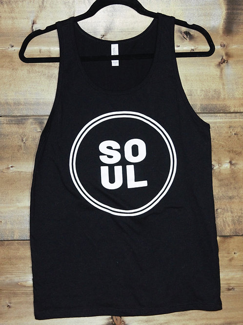 "Black Unisex ""Soul"" tank"