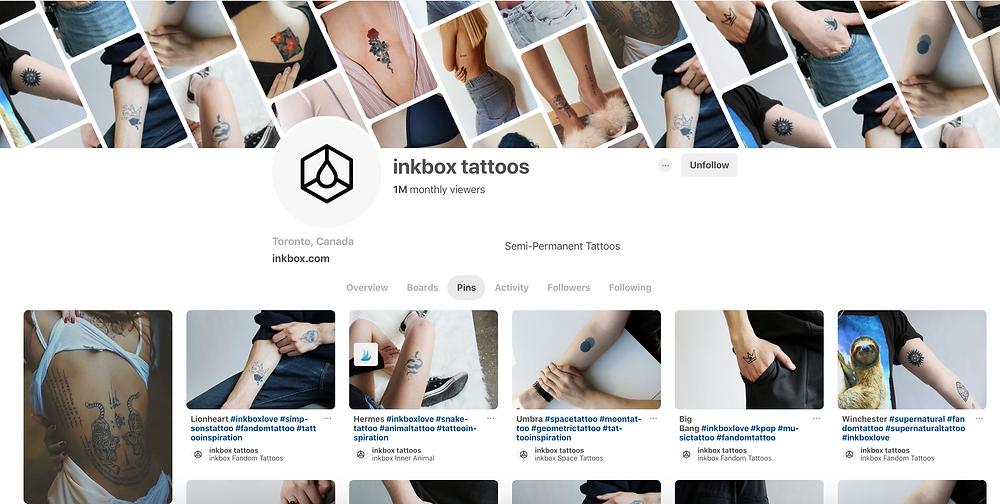 Inkbox Pinterest