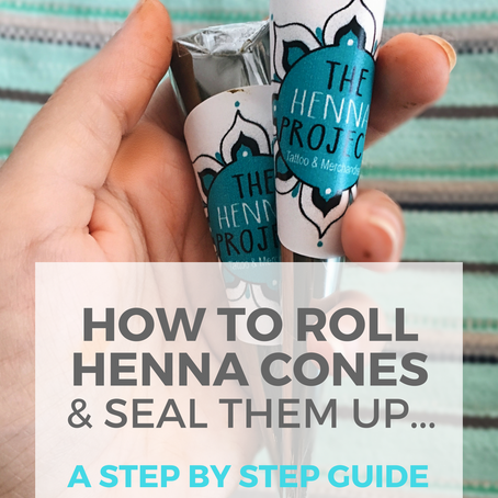 Henna Cones: How to Roll & Fill Them (Step by Step)