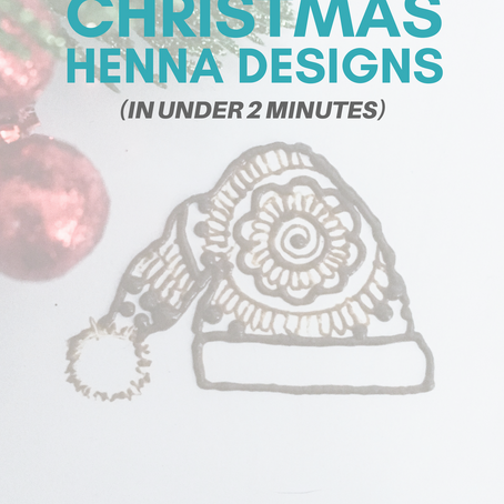 5 Super Cute Henna Christmas Designs (in Under 2 Minutes)