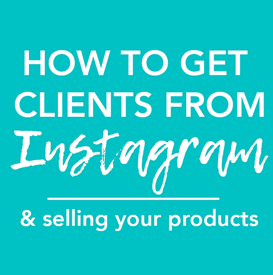 [MASTERCLASS] How to Use Instagram to Get Clients