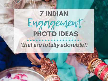 7 Indian Engagement Photo Ideas (that are Totally Adorable!)