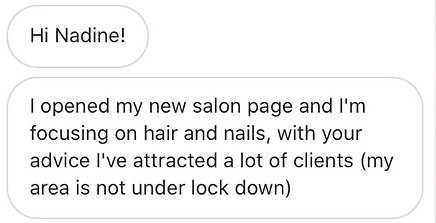 got clients for my salon