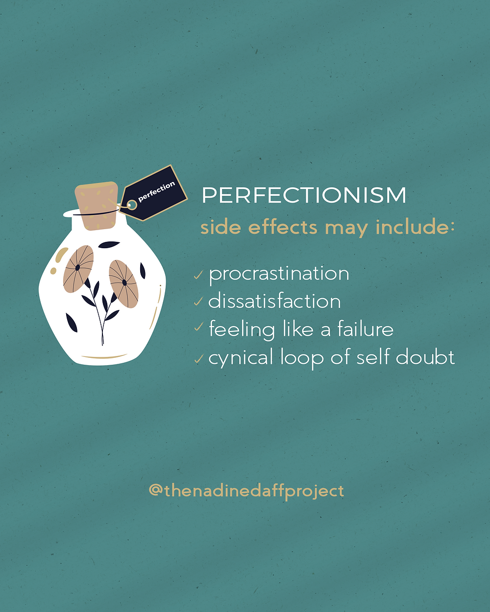 Perfectionism quote graphic