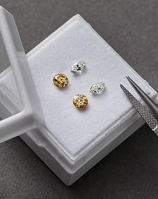 KIMJOUX Loose colour diamond Yellow Round White Marquise