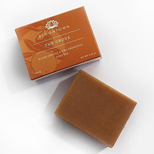 Bloomtown Nourishing Soap Bar The Grove: Blood Orange & Pink Grapefruit