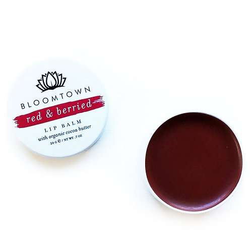 Bloomtown Natural & Vegan Lip Balm: Red and Berried
