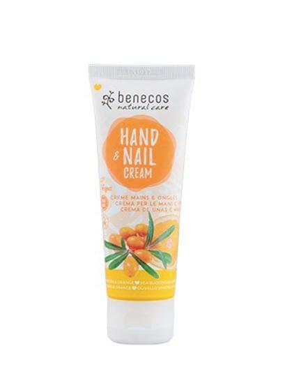Benecos Hand and Nail Cream - Sea Buckthorn and Orange - 75ml