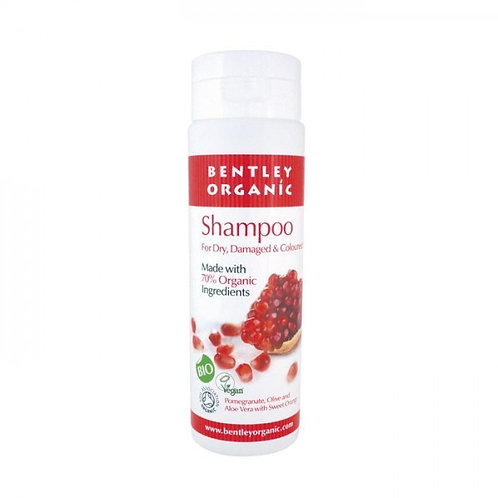 Bentley Organic Shampoo - Pomegranate, Aloe Vera, Olive & Sweet Orange 250ml