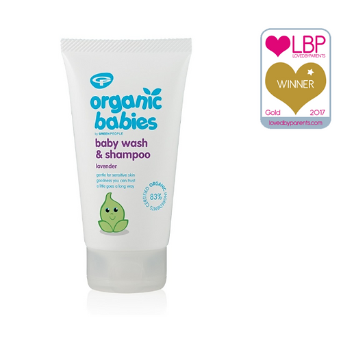 Green People Organic Babies Baby Wash & Shampoo - Lavender 150ml
